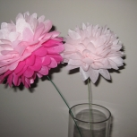 "6-4"" flower pom poms"