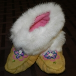 Moosehide slipper/moccasin