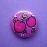 Cherries and Skulls Pin
