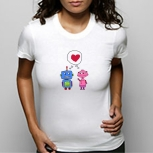 Womens Robot Love Tee