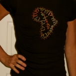 Africa patches embroidered on custom T-Shirts ican patches