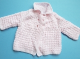 Baby Girl Hand-Knitted Jacket (Pink)