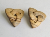 Celtic Knot Earrings, hand-carved in maple