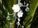 Frost Blossom Vine Earrings