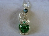 Green Fried Marble Necklace
