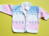 Handmade Baby Girl Sweater-Jacket (6 - 9 months)