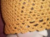 Jolene - lacy edge hat - mustard