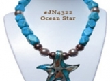 Ocean Star Handcrafted Gemstone Necklace