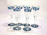 Set of six little glasses