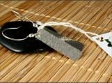 Sterling Silver Rectangle Earrings