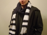 Striped Really Long Men's Wool Scarf  (Super Warm)