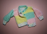 Baby Girl or Boy Hand-Knitted Jacket (multi-colored)