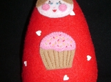 Cassi with a Cupcake - Cuddli DiDi Doll