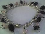 Handmade chain and glass bead bracelets