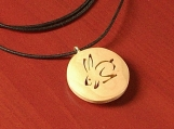 Hare Pendant hand-carved in maple