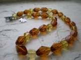 Luscious Cube glass beaded necklace.
