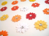 Flower Embellishments in Oranges and Yellows