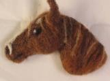 Ned the Needle Felt Horse Head