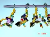 Set of 4 Glass Beaded Macrame Knitting Stitch Markers