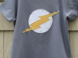 Short Sleeve Lightning Tee (Slate)