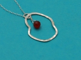 sterling silver red agate necklace