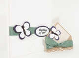 Butterfly Card for Thinking of You Card with Corner Bookmark