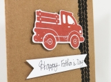 Father's Day Card with Old Fashioned Truck