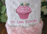 Cupcake Lovie Blanket Minky Blankie for baby