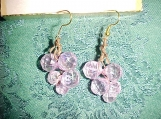 LAVENDER CLUSTER ON A VINE DANGLE EARRINGS