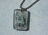 Resin Robot Pendant Necklace