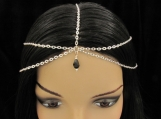 Sterling Silver Plated Multi Strand Head Chain