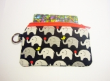 Black Elephant handmade fabric zip purse id1340455