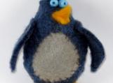 Blue felt birdie