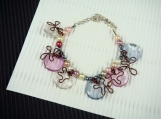 Colorful beads faux pearl bracelet