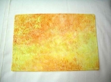 Daffodil Yellow Cotton Batik Quilted Placemats - reversible/three-ply (4 mats)
