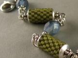 ketju bracelet in pale olive and montana