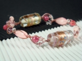 Lampwork and luminous beads bracelet