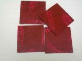 Magenta Lokta Natural Fibre Paper Coasters (set of 4)