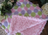 Personalized embroidery Baby Minky cuddle Blanket girly pink