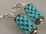 prayer wheel earrings in turquoise