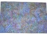 Purple-Blue Cotton Batik Quilted Place Mat Set - reversible/three-ply (4 place mats)