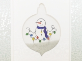 Snowman Holiday Card Shaker