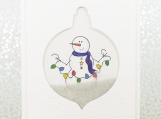 Snowman Holiday Card Shaker