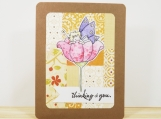Patchwork Thinking of You Card in Glitter