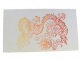 6 Mini Note Cards - Flaming Dragon