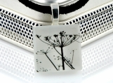 Look Up to The Sky... Silhouette Flower - ECO Glass Photo Pendant Necklace
