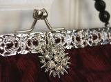 Red Burgundy Velvet Victorian Inspired Handbag