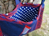 """Retro""  Red, White, and Blue Necktie Handbag FREE SHIPPING!!"