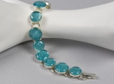 Glitter and Shine Resin and Sterling Silver Bracelet
