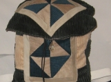 Green and Tan Patchwork Backpack